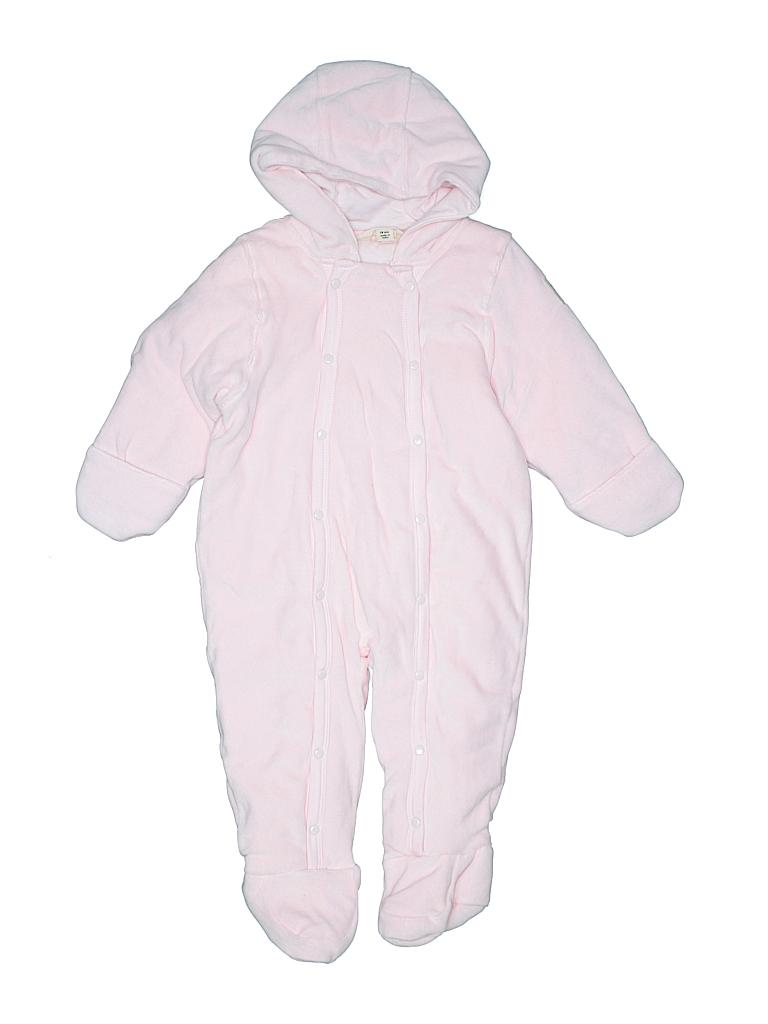f66ad1ed532 Burt s Bees Baby 100% Organic Cotton Solid Light Pink One Piece ...