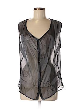 Sisley Short Sleeve Silk Top Size M