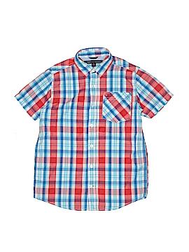Tommy Hilfiger Short Sleeve Button-Down Shirt Size 12 - 14