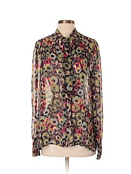 Hinge Long Sleeve Silk Top Size S