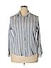 Relativity Women Long Sleeve Button-Down Shirt Size 2X (Plus)