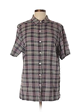 Jennifer Moore Short Sleeve Button-Down Shirt Size XL