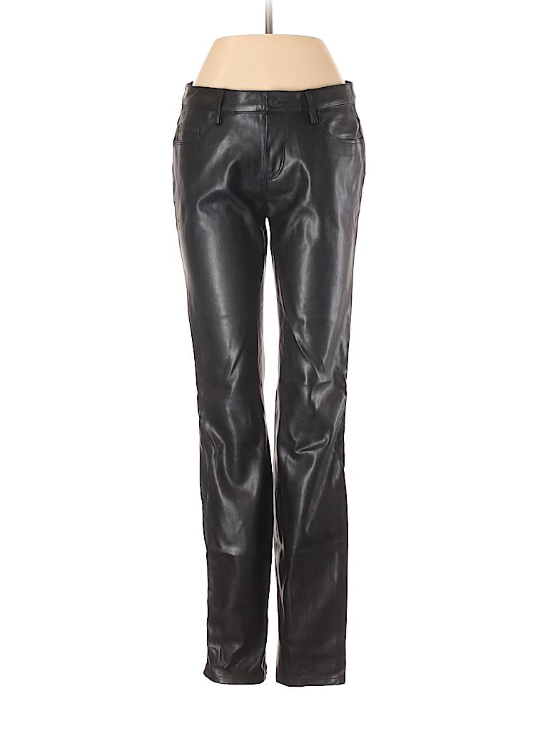 edc0e226ee Zara 100% Polyurethane Solid Black Faux Leather Pants Size S - 91 ...