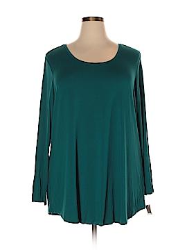 JM Collection Long Sleeve T-Shirt Size 3X (Plus)