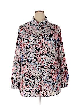 Charter Club Long Sleeve Blouse Size 2X (Plus)