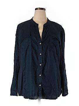 INC International Concepts Long Sleeve Button-Down Shirt Size 24 (Plus)