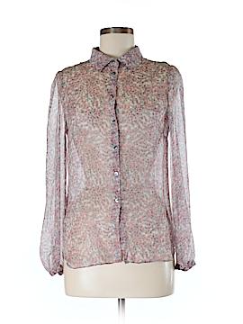 Comptoir des Cotonniers Long Sleeve Silk Top Size 38 (FR)