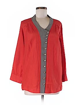 Lauren Moffatt 3/4 Sleeve Silk Top Size M