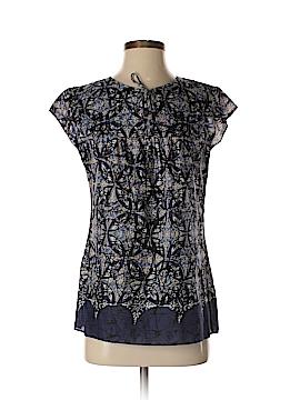 Liz & Co Short Sleeve Blouse Size S
