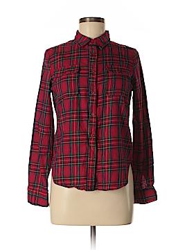 Cals Long Sleeve Button-Down Shirt Size M