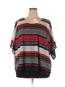 Roz & Ali Short Sleeve Top Size XL