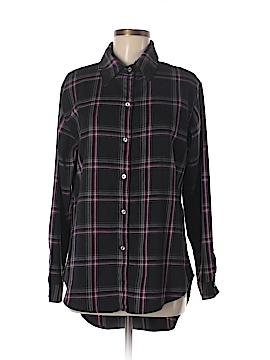 John Eshaya Long Sleeve Button-Down Shirt Size Med - Lg