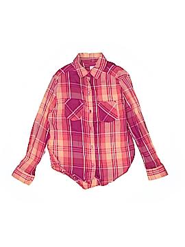 Mudd Girls Long Sleeve Button-Down Shirt Size 7