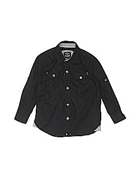 LR Scoop Long Sleeve Button-Down Shirt Size 3T