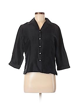 Christie & Jill 3/4 Sleeve Silk Top Size M