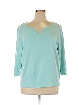 Sigrid Olsen 3/4 Sleeve T-Shirt Size 2X (Plus)