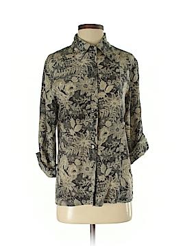 Orvis 3/4 Sleeve Silk Top Size S