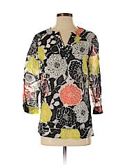 Lafayette 148 New York Women 3/4 Sleeve Blouse Size 4