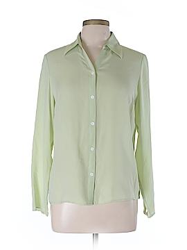 Charter Club Long Sleeve Silk Top Size 10