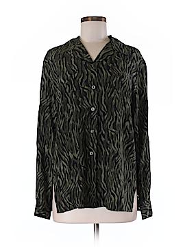 City Silk Long Sleeve Silk Top Size M