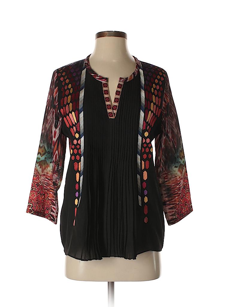Ranna Gill Women 3/4 Sleeve Blouse Size S