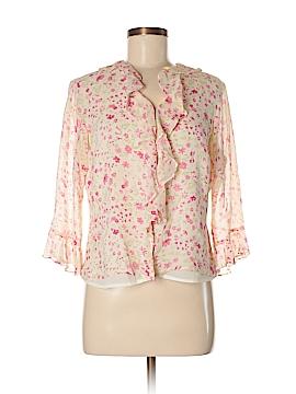 Laura Ashley 3/4 Sleeve Silk Top Size 8