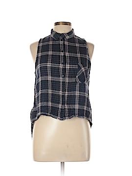 Sophie Rue Sleeveless Button-Down Shirt Size L
