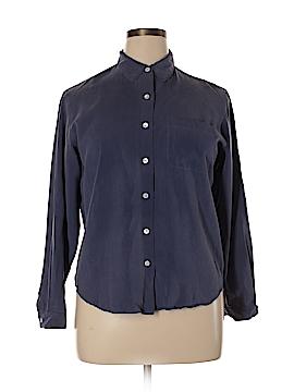 Lands' End Long Sleeve Silk Top Size 14 (Petite)