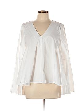 Aqua Long Sleeve Blouse Size L