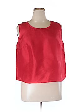 Harve Benard by Benard Holtzman Sleeveless Silk Top Size 16W