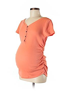 Inspire Maternity Short Sleeve Henley Size M (Maternity)