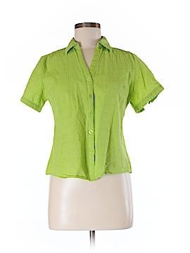 Sag Harbor Short Sleeve Button-Down Shirt Size M (Petite)