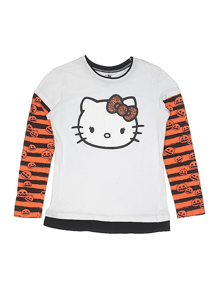 7abd197df41b Hello Kitty Stripes Graphic White Long Sleeve T-Shirt Size 15 - 17 ...