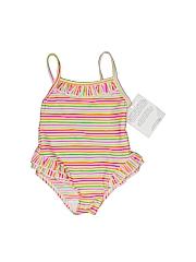 Banana Cabana Girls One Piece Swimsuit Size 12 mo