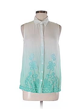 Ya Sleeveless Button-Down Shirt Size M