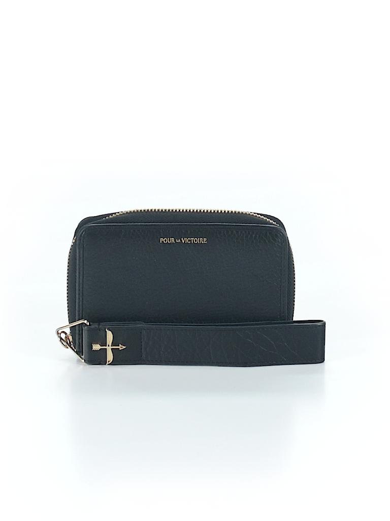 Pour La Victoire Solid Black Wristlet One Size - 66% off  e01b9de3f8ef4
