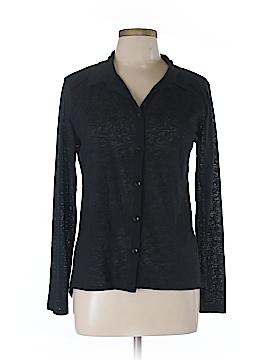 Eyelash Couture Long Sleeve Button-Down Shirt Size L