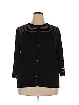 August Silk Cardigan Size 1X (Plus)