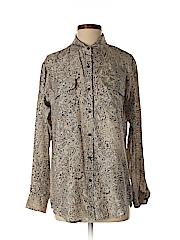 CAbi Women Long Sleeve Silk Top Size S