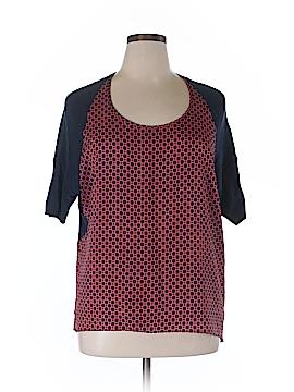 Anthropologie Short Sleeve Blouse Size XL