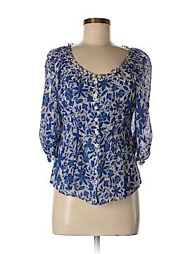 Cynthia Steffe 3/4 Sleeve Silk Top Size 2