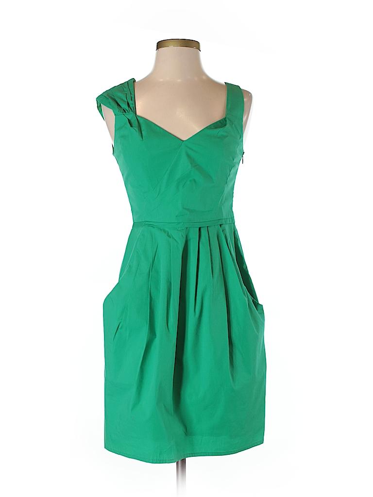 af16d808c195 Nanette Lepore Solid Green Casual Dress Size 0 - 99% off | thredUP
