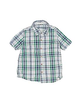 Burt's Bees Kids Short Sleeve Button-Down Shirt Size 4T