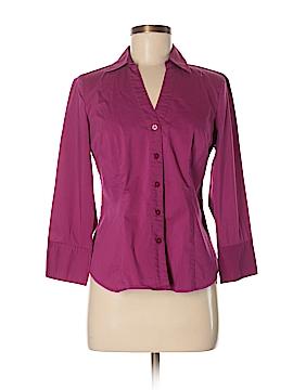 Ann Taylor Factory 3/4 Sleeve Button-Down Shirt Size 8 (Petite)