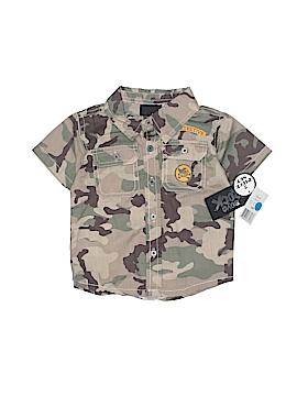 Boys Rock Short Sleeve Button-Down Shirt Size 12 mo