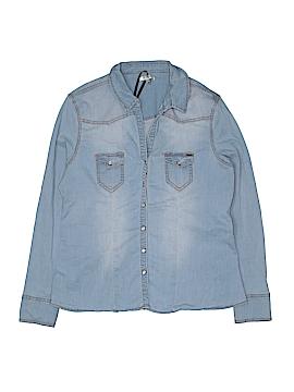 Buffalo by David Bitton Long Sleeve Button-Down Shirt Size X-Large (Youth)