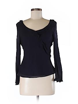 Sara Campbell Long Sleeve Silk Top Size 8