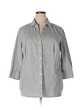 Worthington Long Sleeve Button-Down Shirt Size 2X (Plus)