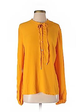 Diane von Furstenberg Long Sleeve Blouse Size S