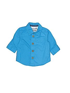 Genuine Baby From Osh Kosh Long Sleeve Button-Down Shirt Newborn